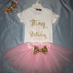 Baby girl 1st Birthday outfit!